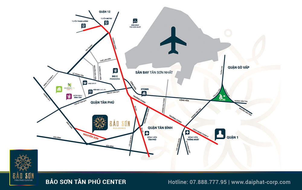 Vị trí Bảo Sơn Tân Phú Center