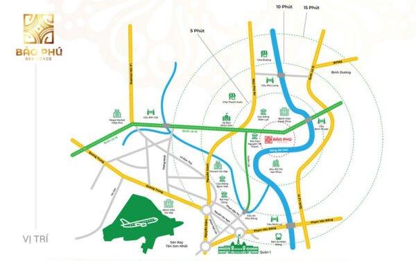 Vị trí khu dân cư Bảo Phú Q12