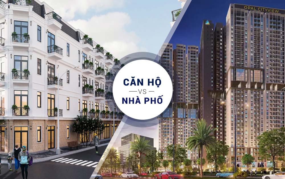 Chọn mua nhà phố liền kề hay căn hộ chung cư