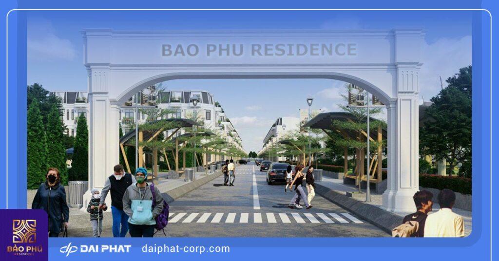 Cổng chào dự án tại đường Võ Thị Liễu