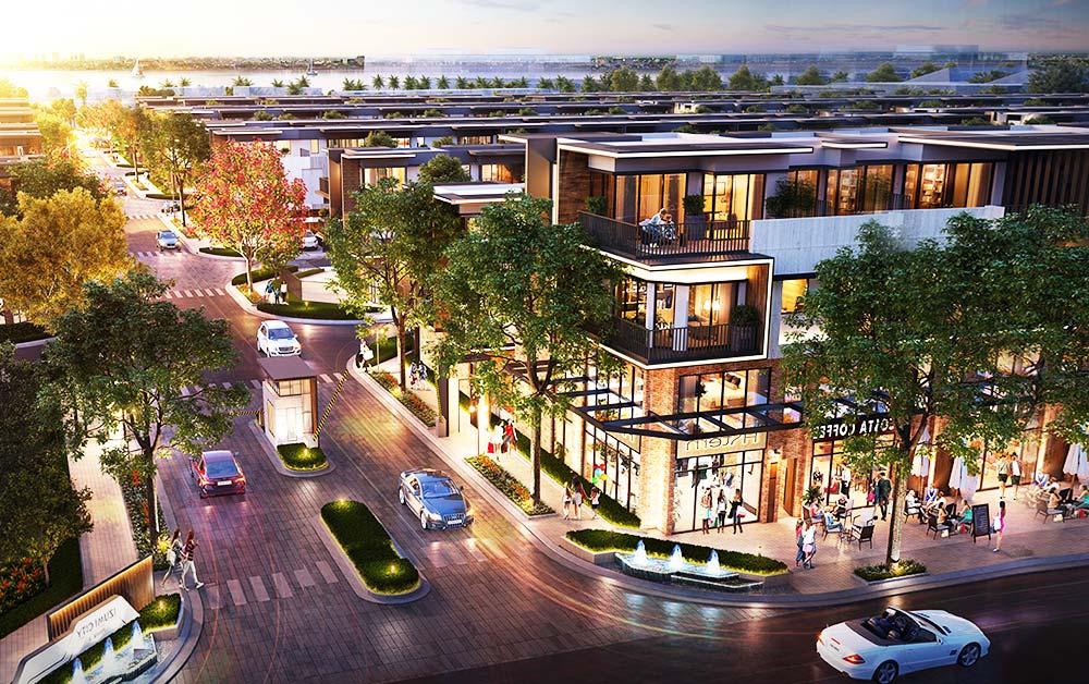 Một góc phố tại dự án của Nam Long